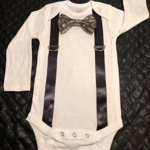 Other - Baby bow tie and suspender onesie
